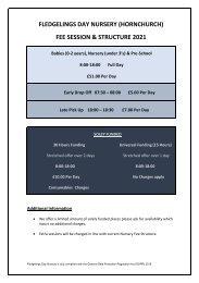 Fledgelings Fee Sheet Hornchurch 2021 v6