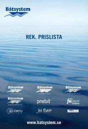 REK. PRISLISTA - Båtsystem