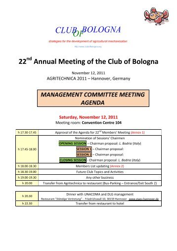 Agenda of the tenth management committee meeting management committee meeting agenda club of bologna thecheapjerseys Gallery