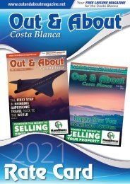Out and About Magazine - 2021 Rate Card
