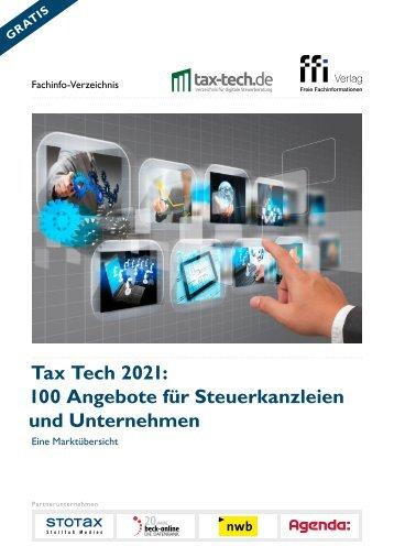 Tax Tech 2021: 100 Angebote für Kanzleien und Unternehmen