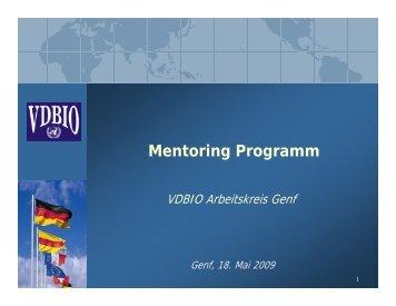 Definition: Hintergrund - Ziel - Konzept - VDBIO