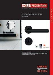 Exklusive Türgriffe von Karcher Design Preisliste 2021