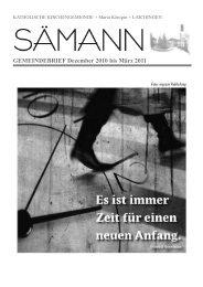 Sämann: Ausgabe: 04/10 Dezember 2010 bis März