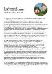 Orientierungslauf Bundesmeisterschaft 2006 - HS Hallein-Neualm