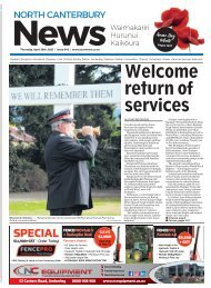North Canterbury News: April 29, 2021