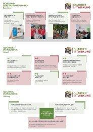 Quartiersentwicklung Flyer