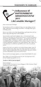 Velkommen til BAPTISTKIRKENS MISSIONSSTÆVNE 2011 i det ... - Page 3