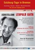 Salzburg-Tage in Bremen - Leopold Kohr Akademie - Seite 2