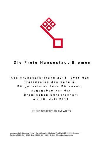 Die Freie Hansestadt Bremen - renate-moebius.de