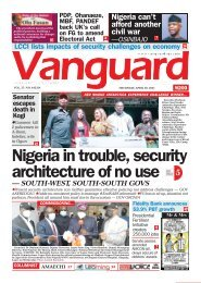 29042021 - Nigeria in trouble, security architecture of no use