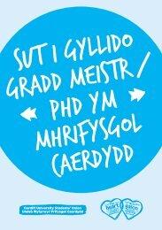 Sut i Gyllido Gradd Meistr/PhD ym Mhrifysgol Caerdydd