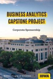Business Analytics Capstone Brochure - Corporate Sponsorship