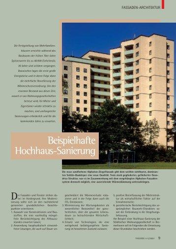 Beispielhafte Hochhaus-Sanierung - Fassade