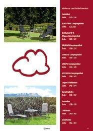 Camping Zubehör Katalog - Wohnen und Schlafen