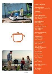 Camping Zubehör Katalog - Grillen und Haushalt