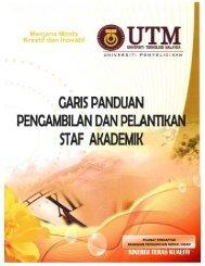 garis panduan pengambilan dan pelantikan staf akademik - UTM