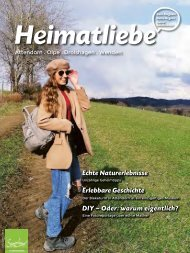 HEIMATLIEBE-BIGGESEE Ausgabe 12 Frühjahr 2021