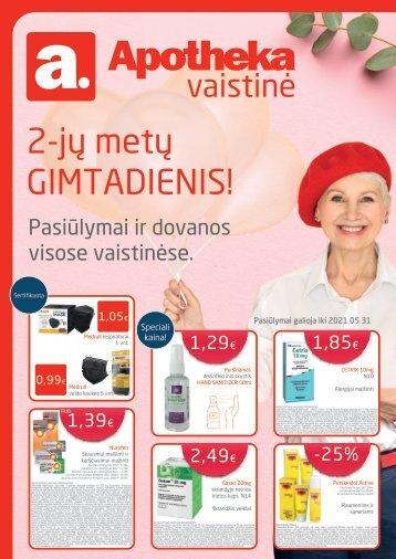 Apotheka vaistinės akcijos / Gegužė