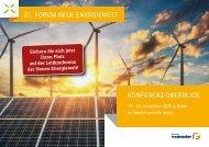 Konferenzüberblick 21. Forum neue Energiewelt