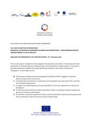 Civil society in action for dialogue and partnerships - Association of ...