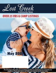 Lost Creek May 2021