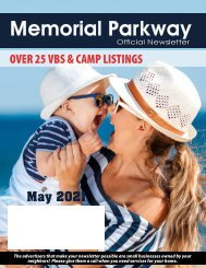 Memorial Parkway May 2021