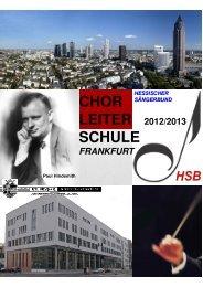 HSB- Chorleiterschule Frankfurt Schuljahr 2012/2013 - Hessischer ...