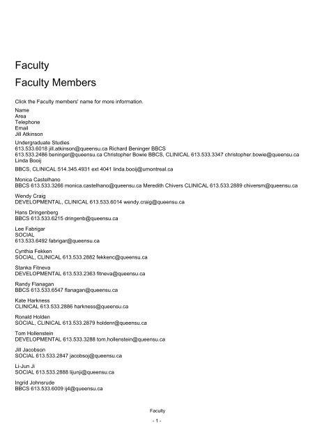 Faculty Faculty Members