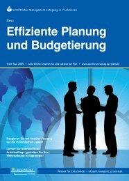 Effiziente Planung und Budgetierung