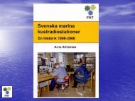 Svenska Marina Kustradiostationer av Arne Ahlström