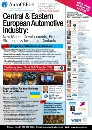 Central & Eastern European Automotive Industry - AmCham - Czech ...