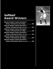 Softball award winners - NCAA