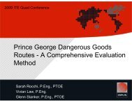 Prince George Dangerous Goods Routes - Greater Vancouver Section