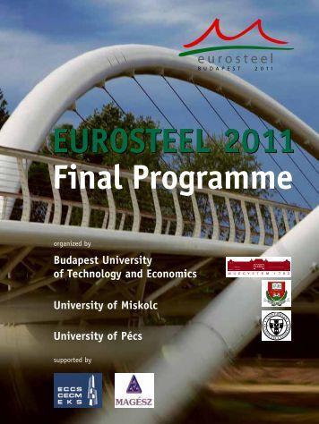 EUROSTEEL 2011 Final Programme