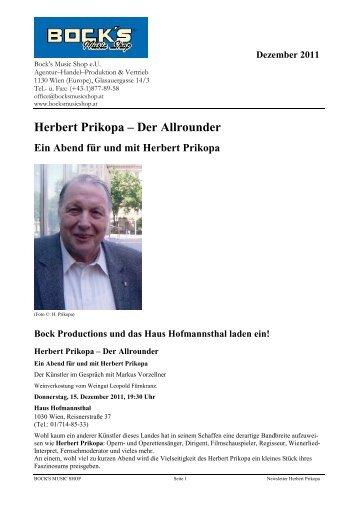 Herbert Prikopa – Der Allrounder - Bock's Music Shop