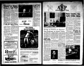 Albany Student Press 1965-04-13 - University at Albany Libraries