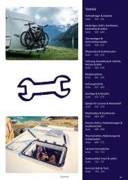 Camping Zubehör Katalog bei Wohnwagen Bruns - Technik