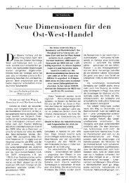 Neue Dimensionen für den Ost-West-Handel - Wifo
