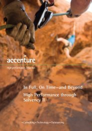 In Full, On Time—and Beyond High Performance through Solvency II