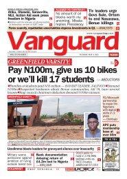 04052021 - Pay N100m, give us 10 bikes or we'll kill 17 students