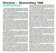 Directions - Silversmithing