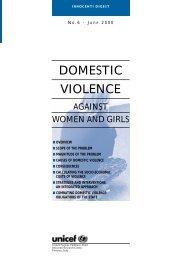 DOMESTIC VIOLENCE - Innocenti Research Centre