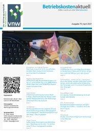Betriebskosten Aktuell - Ausgabe April 2021