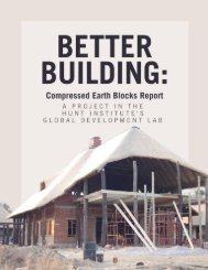 Better Building: Compressed Earth Blocks Report