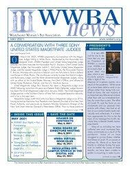 WWBA May 2021 Newsletter