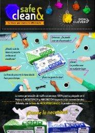 Flyer SAFE CLEAN toalla secamanos, otros usos