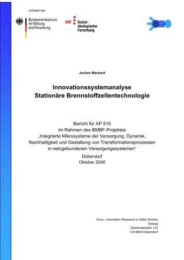 Innovationssystemanalyse Stationäre Brennstoffzellentechnologie