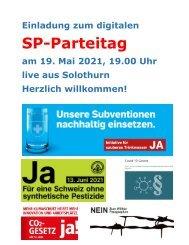 Einladung zum digitalen Parteitag vom 19. Mai