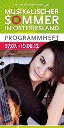 Kammerkonzert - Musikalischer Sommer in Ostfriesland